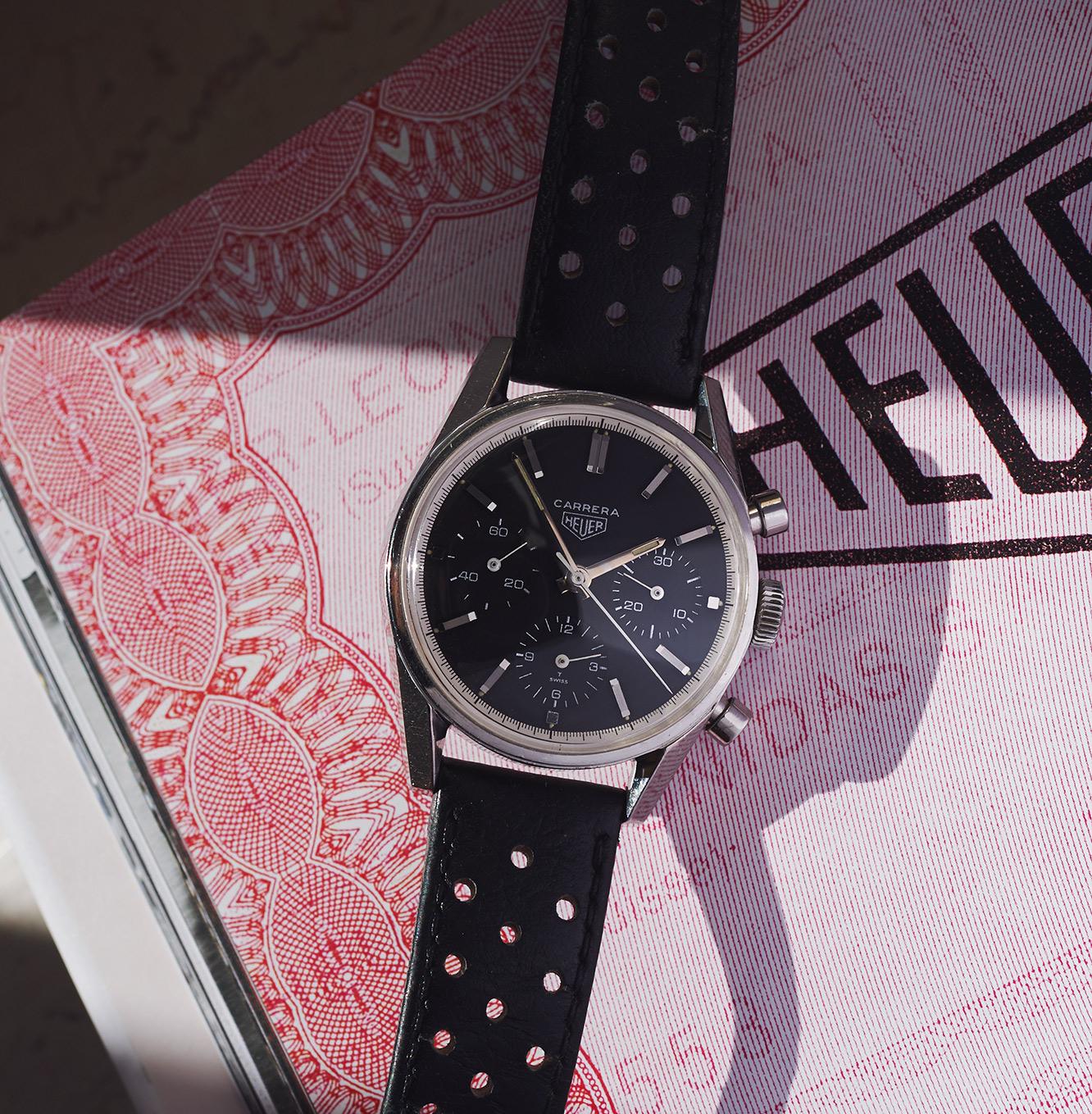 Heuer Carrera 2447N silverprint