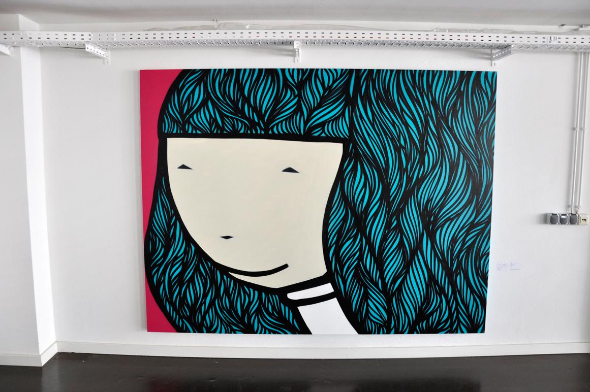 Kid Acne Artwork / 190 x 250 cm / spraycan