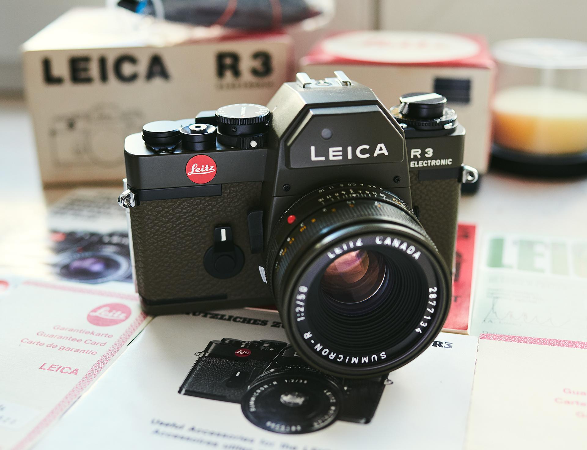 Leica R3 Safari / Fullset ca 1977 / mint