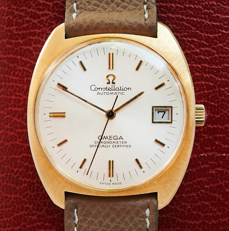omega constellation chronometer 18k