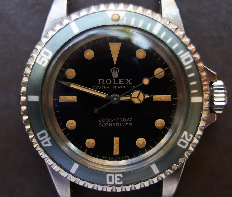 Rolex Submariner 5513 gilt dial