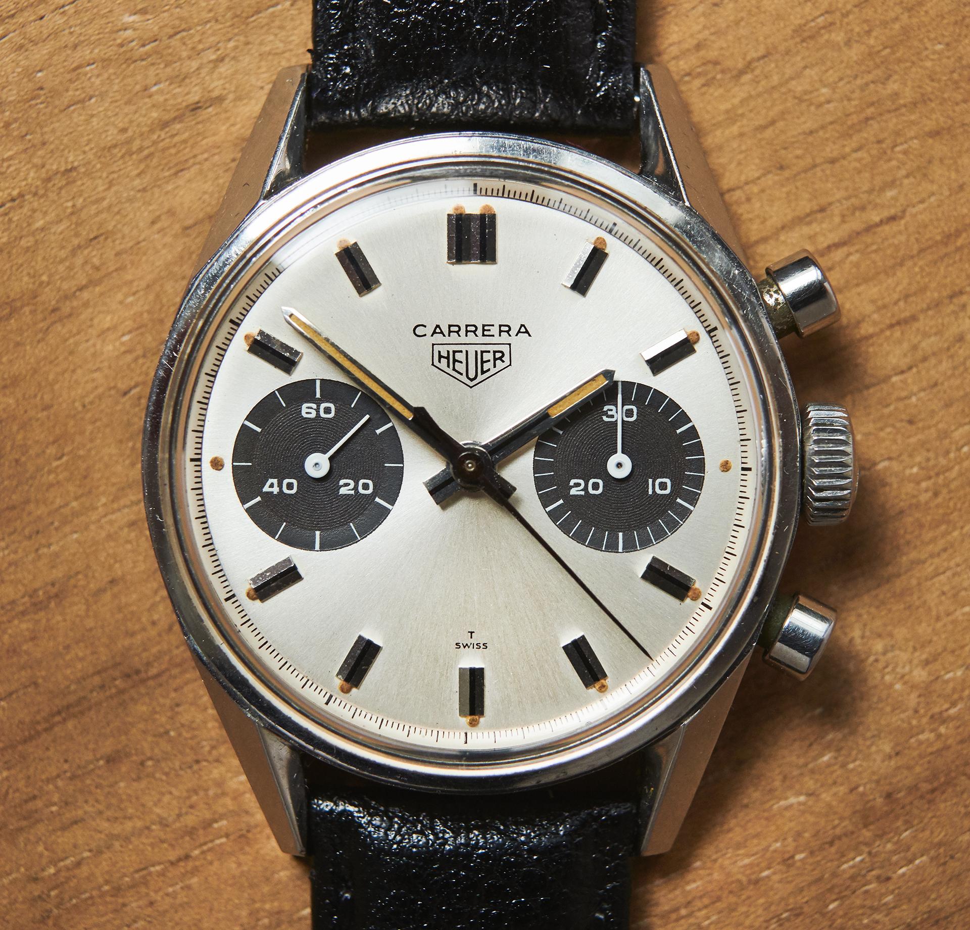 Heuer Carrera 7753 SN / 1969 Panda dial