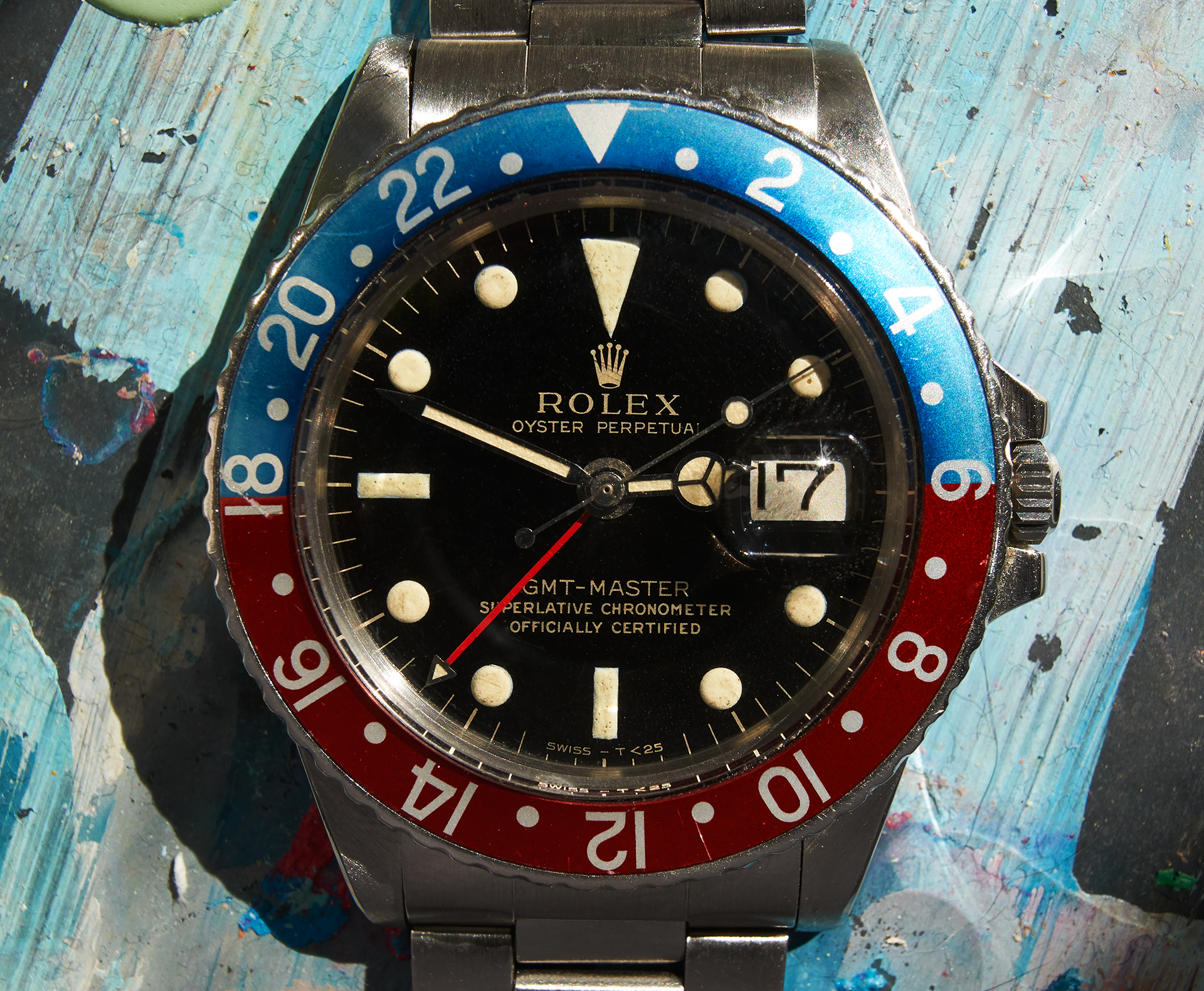 Rolex 1675 gmt master gilt/glossy dial