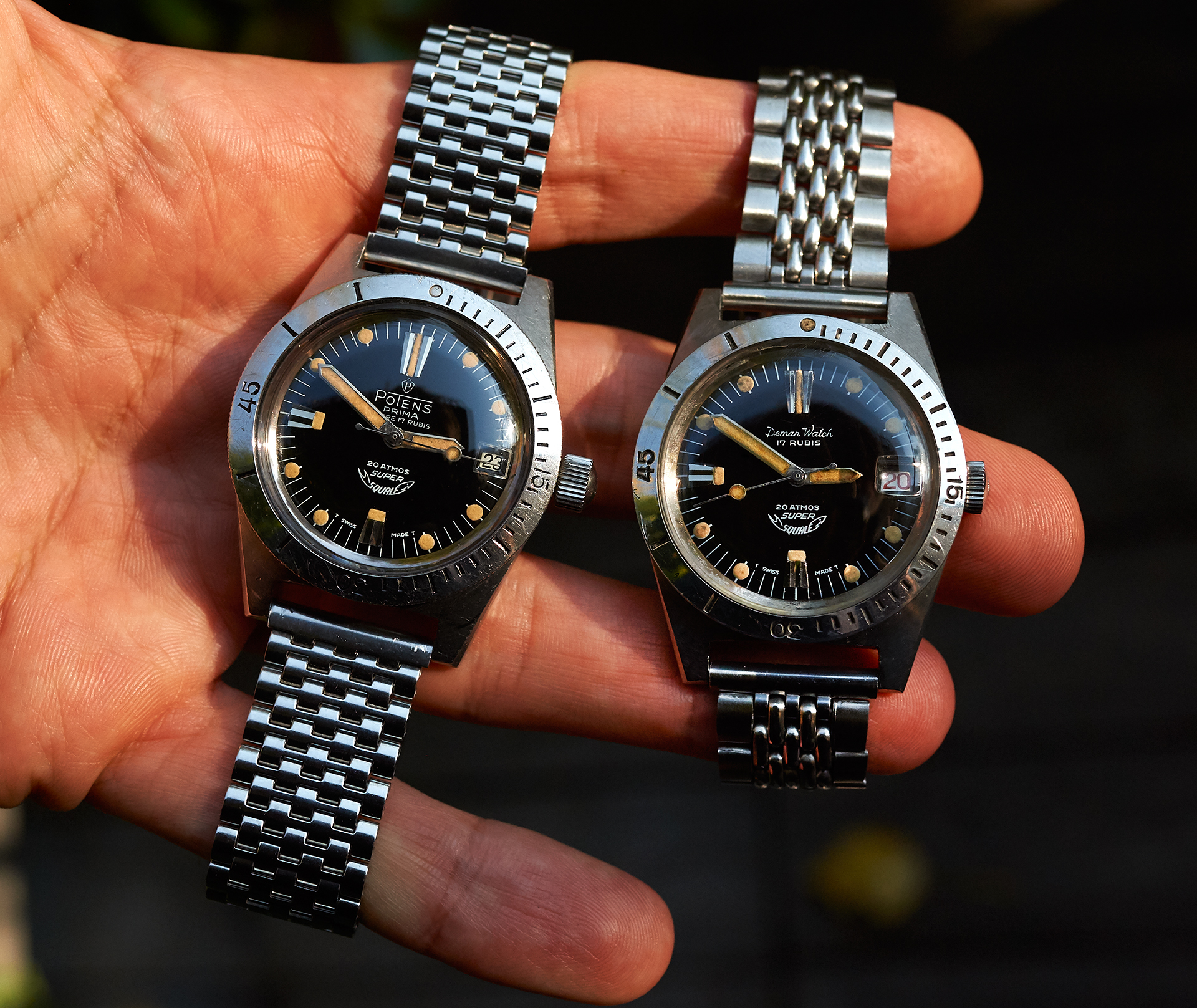 2x Squale 1157 diverwatch late 1960s