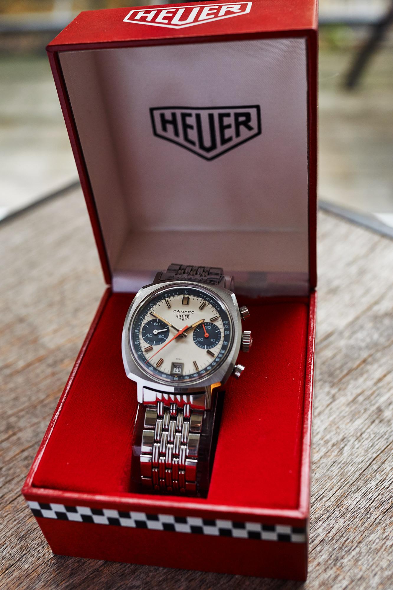 "Heuer Camaro 73443 Dato ""exotic dial"""