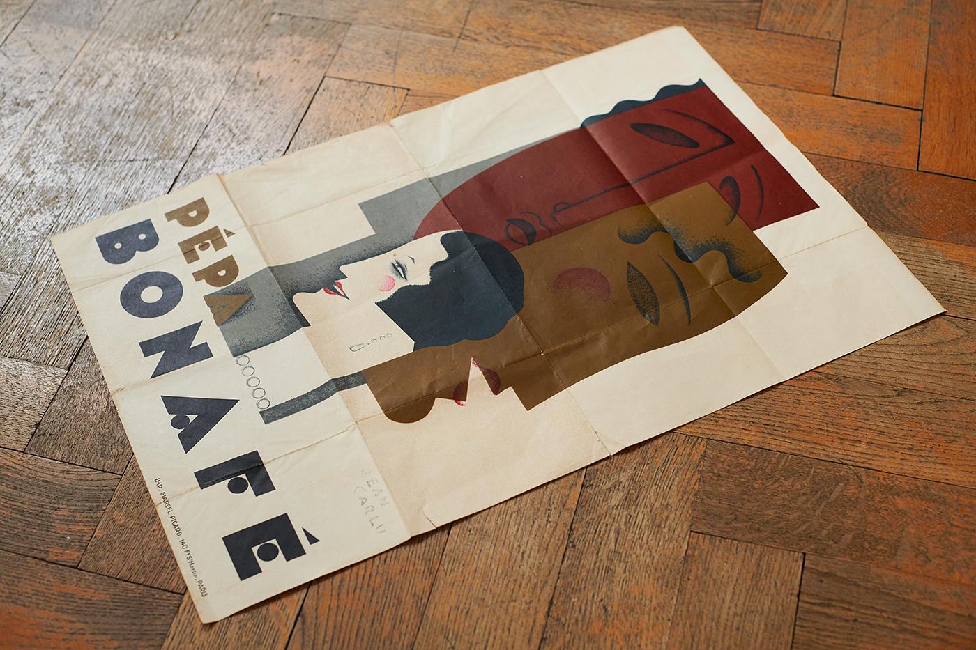 Pépa Bonafé Lithograph by Carlu 1928