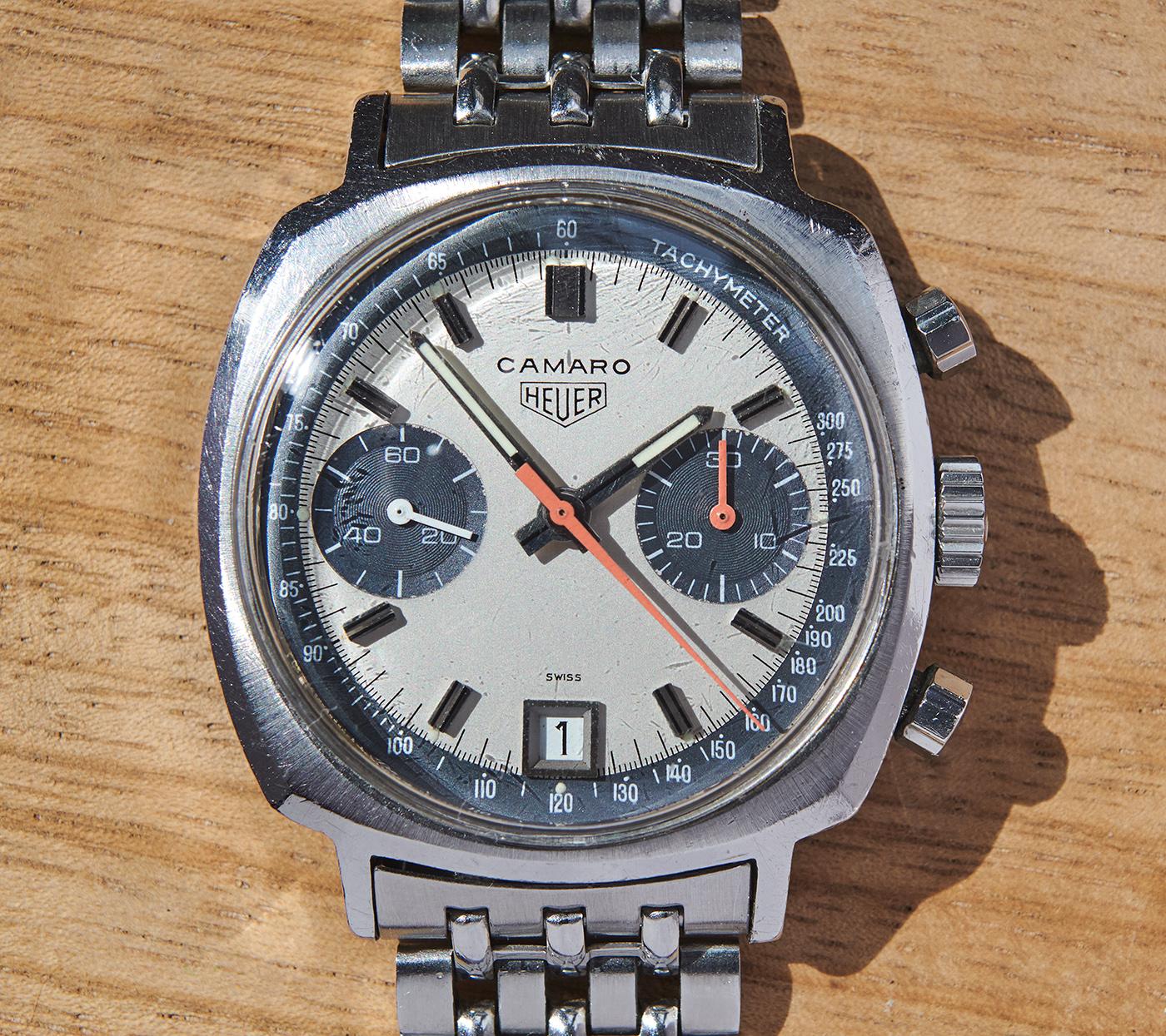 Heuer Camaro 7843 dato exotic dial