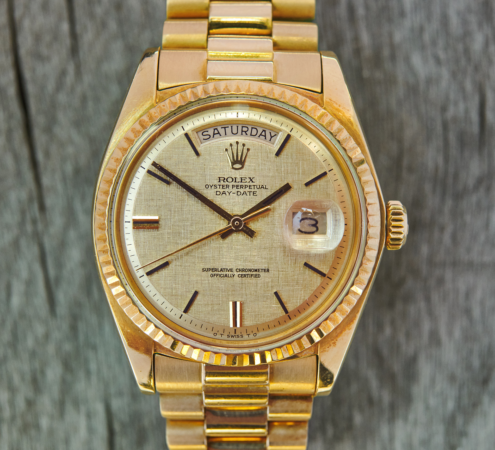 Rolex 1803 Daydate Sigma Linen-dial