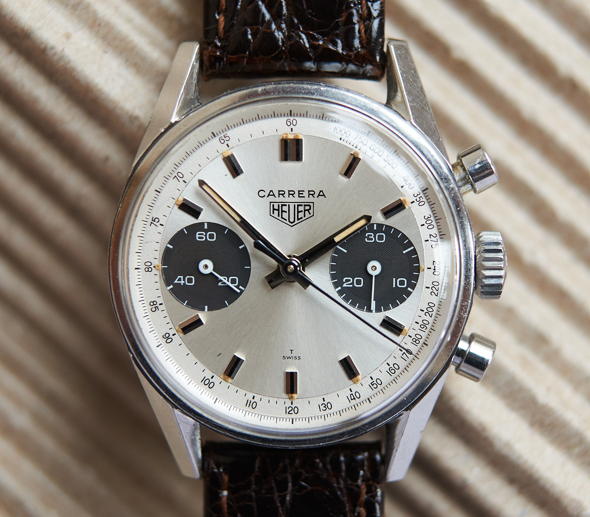 Heuer Carrera 7753 SNT panda / issued