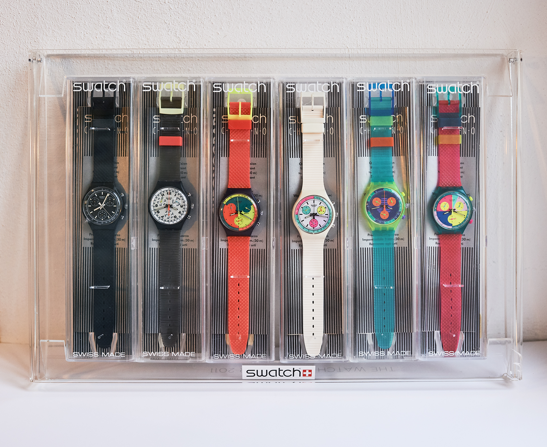 The first Swatch Chronocollection from 1990