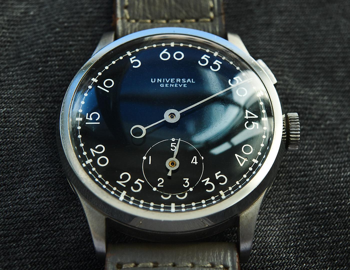 Universal Genève Countdown watches 1930s