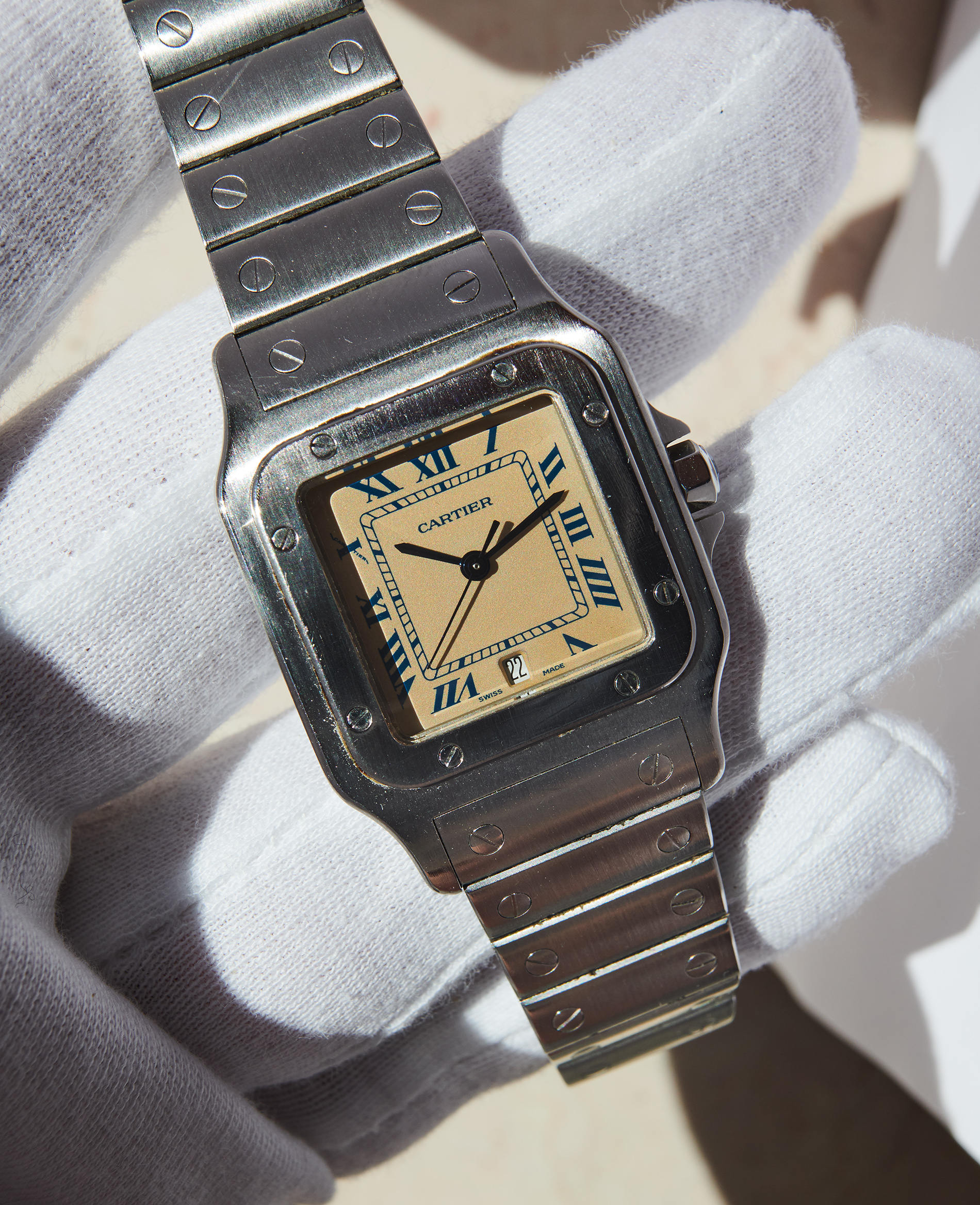 Cartier Santos Creme dial 1995