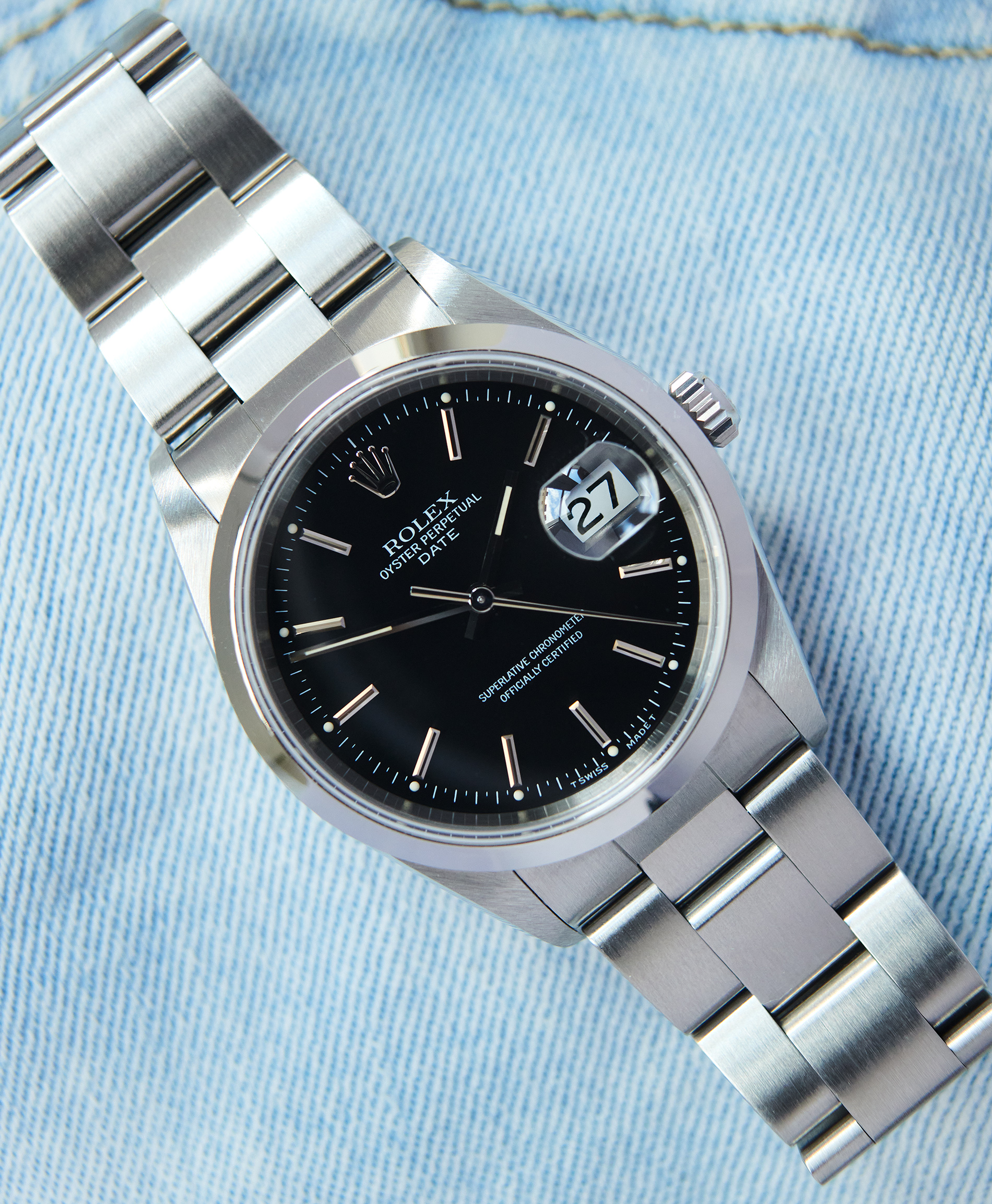 Rolex 15200 date papers + service