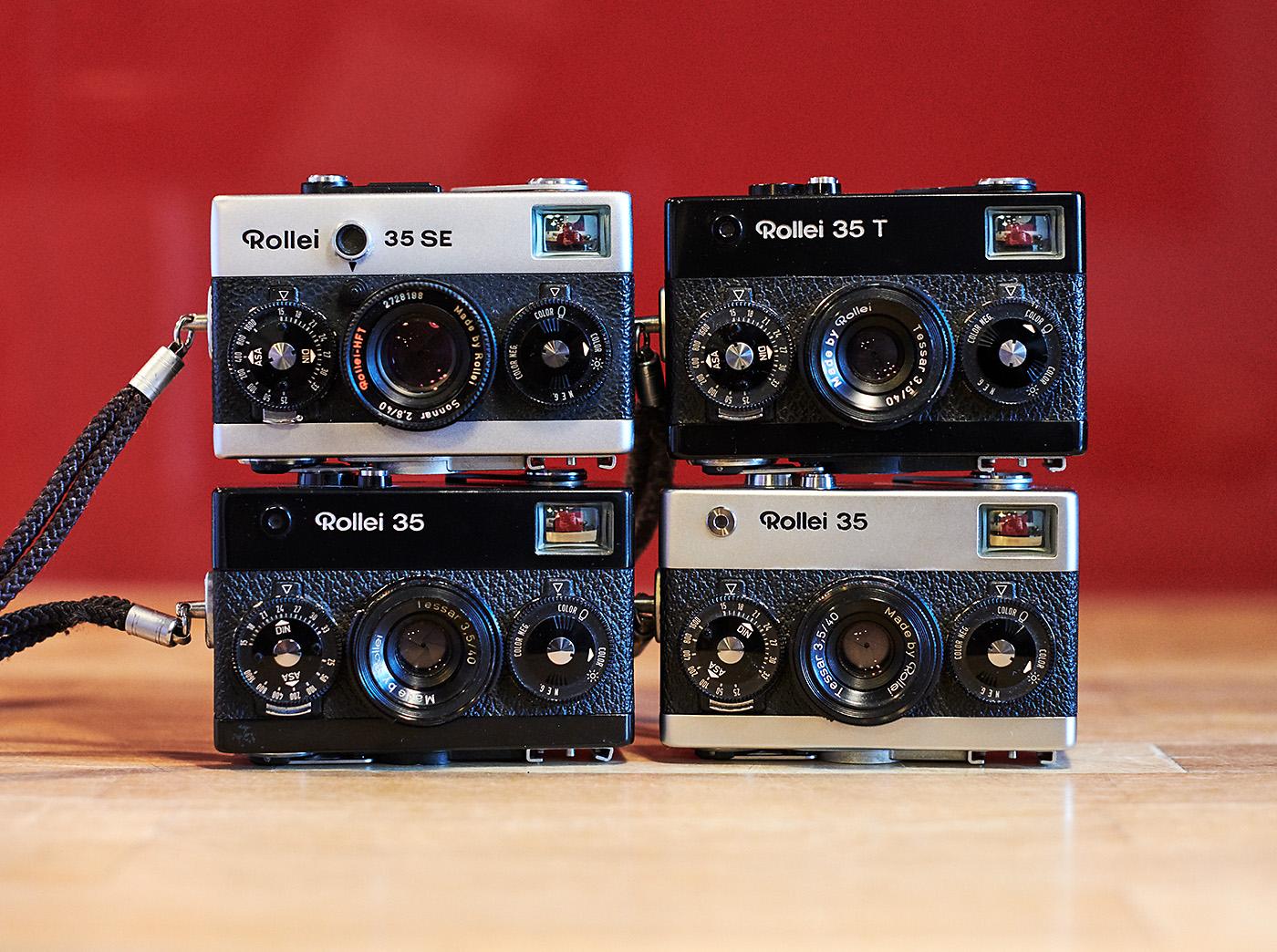 4x Rollei 35 / rangefinder camera