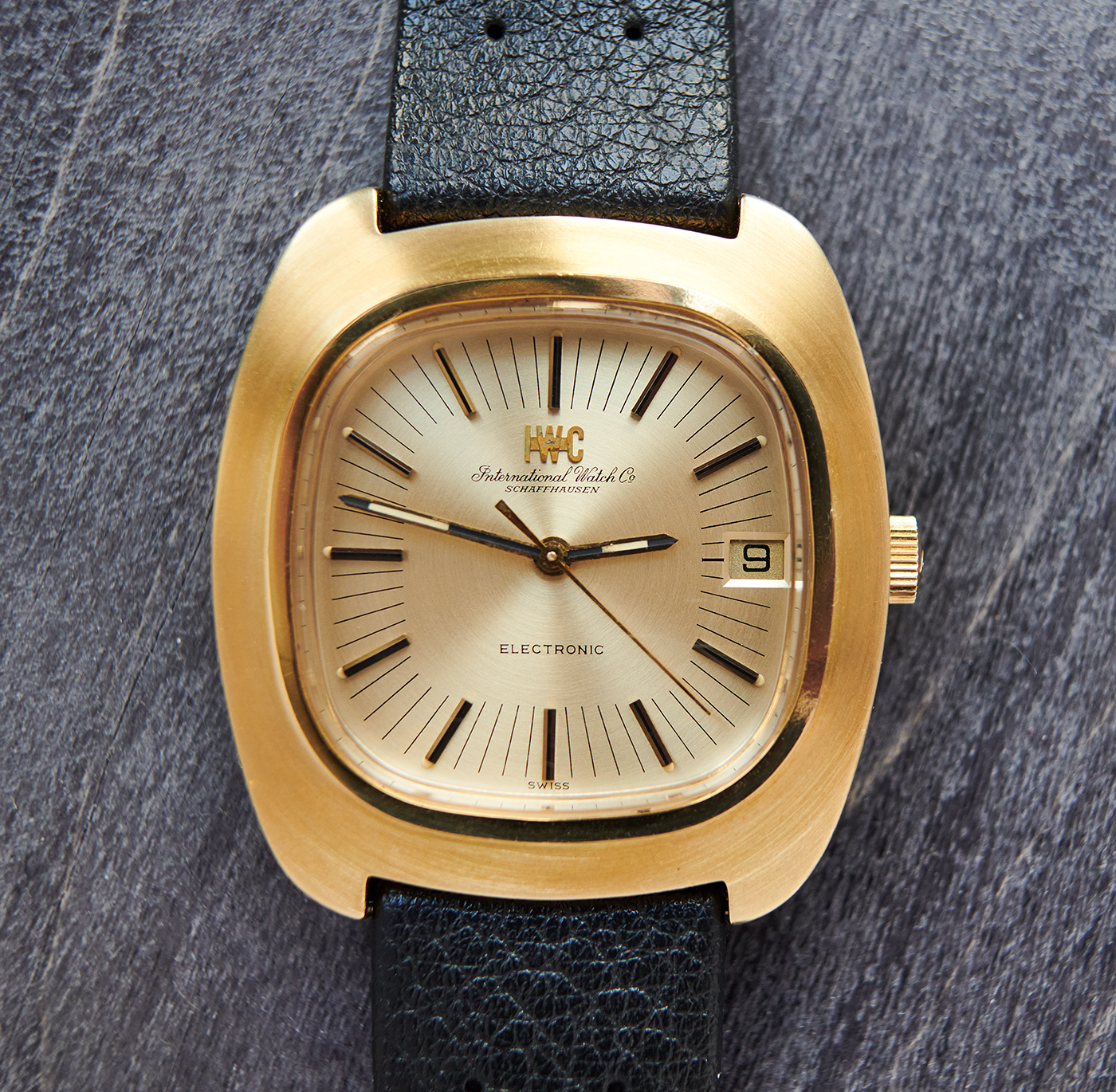 iwc 3470 tuning fork 18k gold