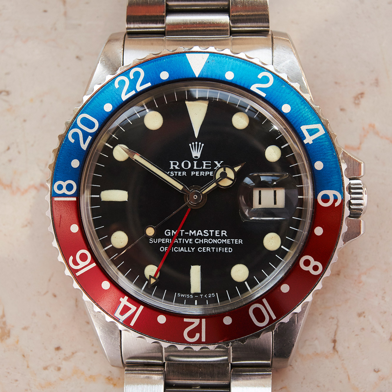 """Rolex 1675 GMT """"sulfite lume"""""""