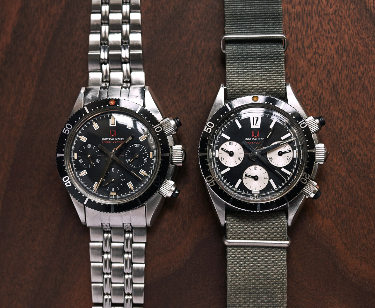 Universal Geneve Spacecompax Mk1 and Mk2